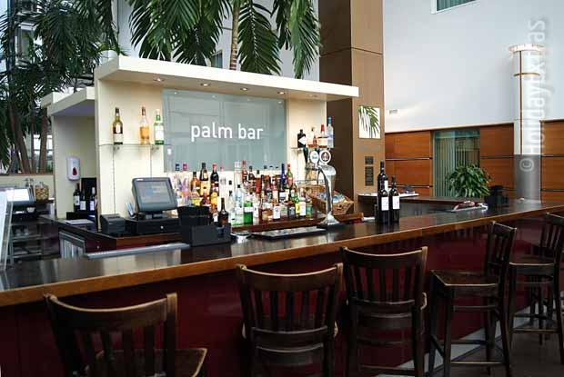 Palm bar at the Gatwick Arora