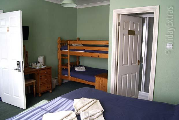 Family rooms at the Gatwick Corner House have bunkbeds for the kids