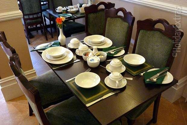 Formal dining is par for the course at the Gatwick Corner House