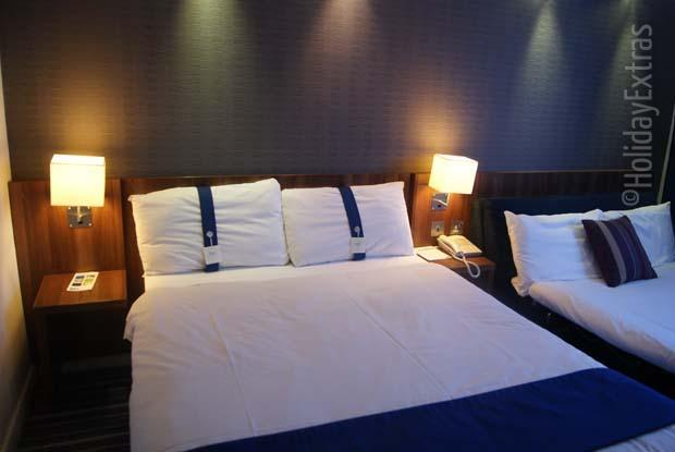 A large comfortable family room at the Gatwick Holiday Inn Express
