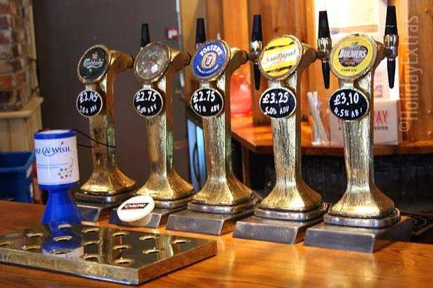 Draft beer and cider is on offer at the Gatwick Holiday Inn Express