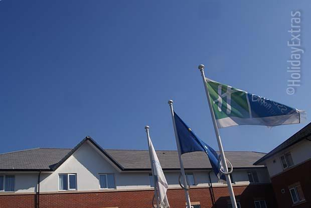 Proudly flying the Gatwick Express Holiday Inn flags