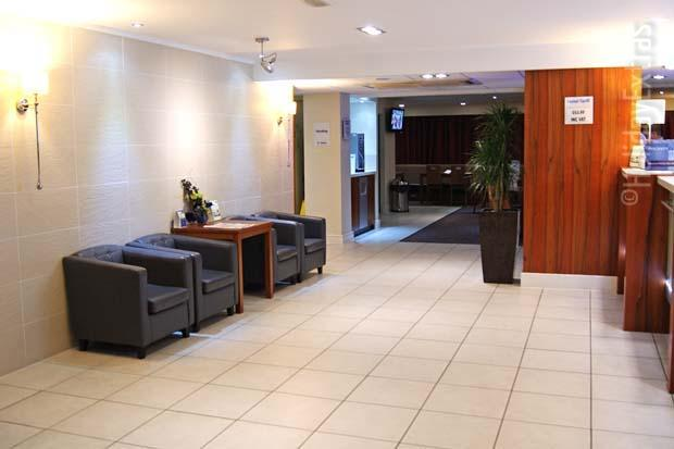 The reception at the Gatwick Holiday Inn Express