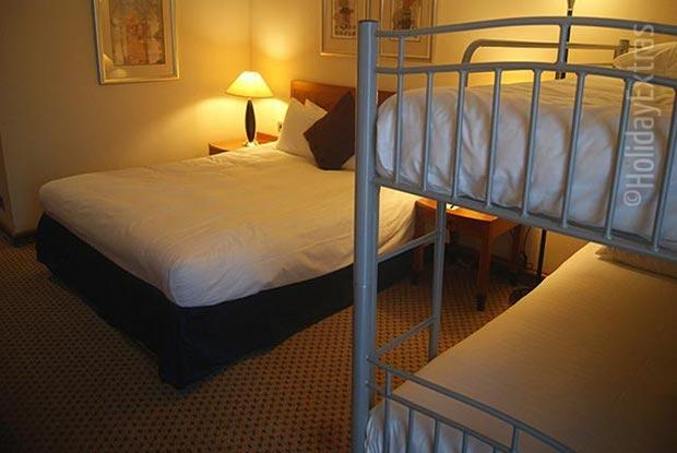 Bunk beds are available in family rooms at the Gatwick Hilton