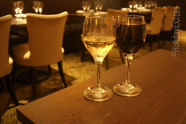 Enjoy a glass of wine or two at Amys bar at the Gatwick Hilton