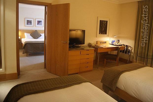 The Gatwick Hilton offers connecting rooms
