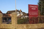 The sign outside the Gatwick Menzies Chequers