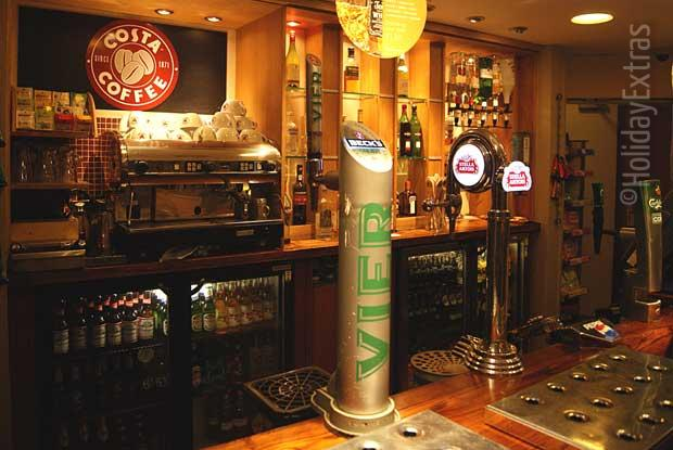 A wide selection of drinks is available at the Premier Inn A23 Airport Way bar