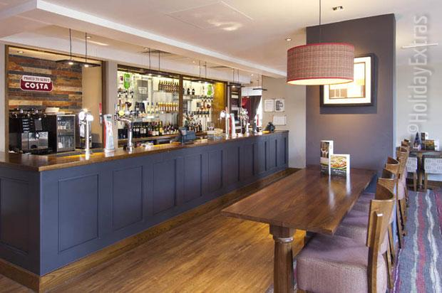 The bar at the Premier Inn London Gatwick airport