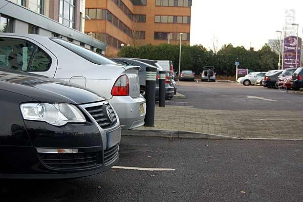Park right outside the Gatwick Premier Inn Manor Royal