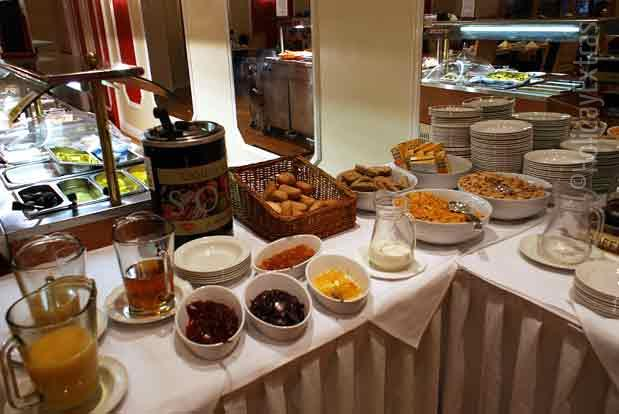 Breakfast buffet at the Gatwick Russ Hill