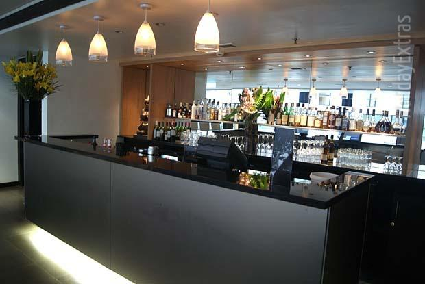 A wide variety of drinks is on offer at the Kua bar in the Gatwick Sofitel