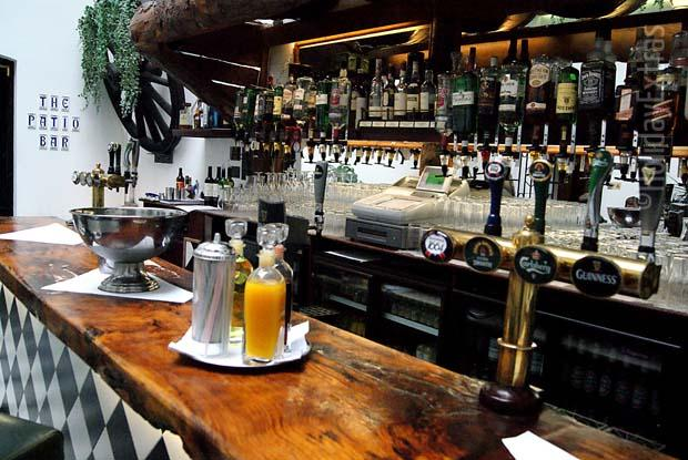 The Gatwick Stanhill Court bar is outfitted with a wide range of drinks