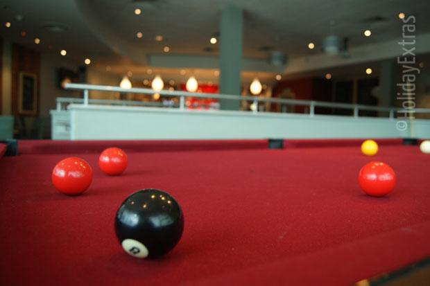 Play pool at the Heathrow Arora