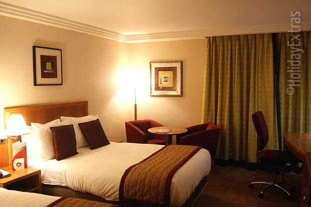 A double room at the Heathrow Crowne Plaza
