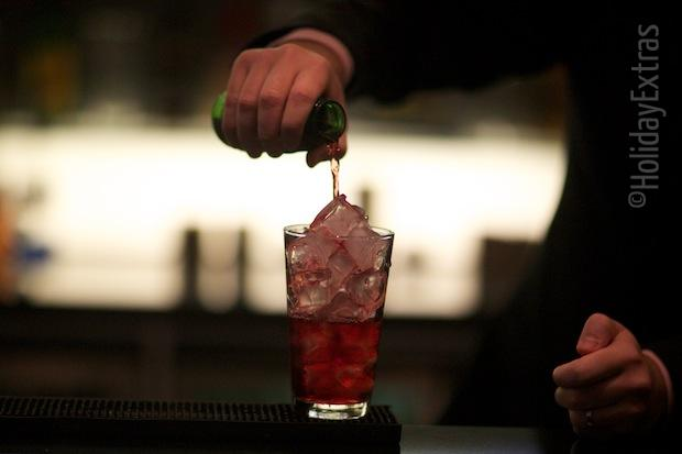 Enjoy a drink at the Hilton Heathrow terminal 5