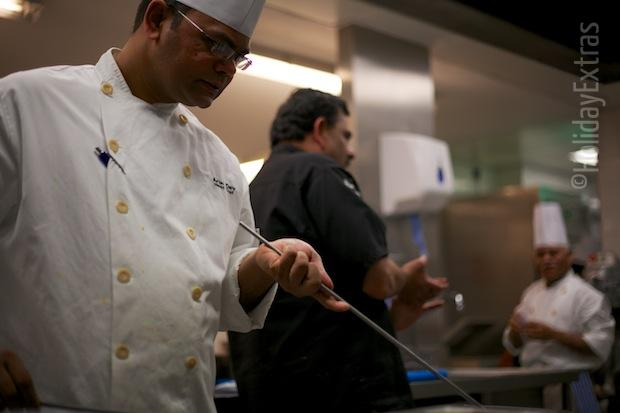 In the kitchen with Mr Todiwala at the Hilton Heathrow terminal 5