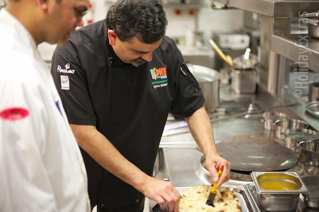 Mr Todiwala cooking at the Hilton Heathrow terminal 5