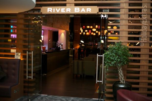 The River bar at the Hilton Heathrow terminal 5