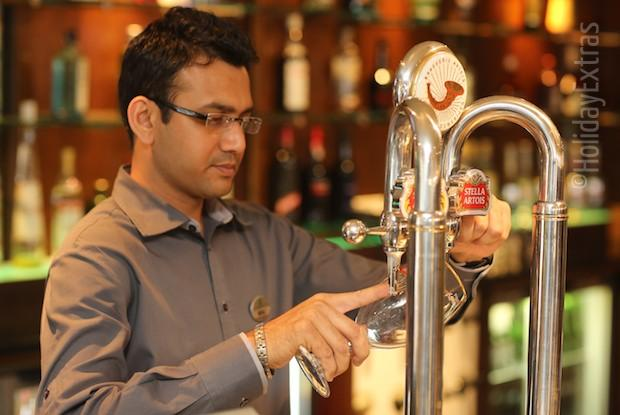 Enjoy a pint at the Holiday Inn