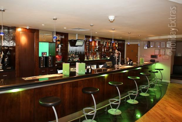 The bar at the Holiday Inn