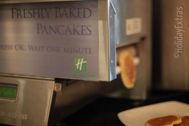 Freshly baked pancakes at the Holiday Inn M4 J4