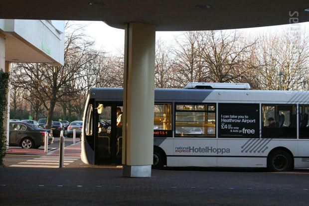 Transfer bus at the Holiday Inn M4 J4