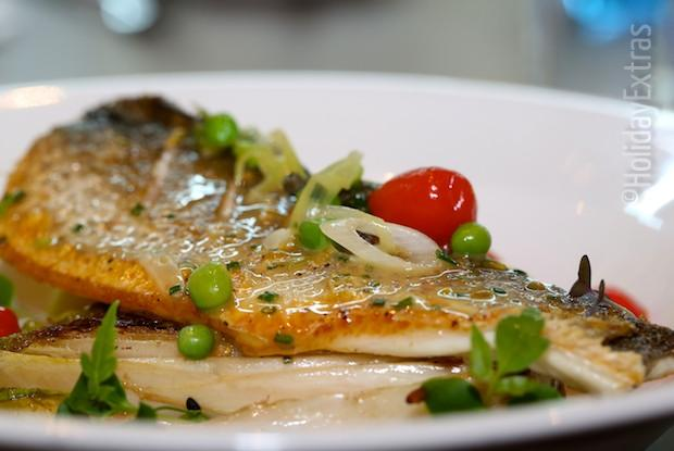 Sea bass at the Novotel hotel