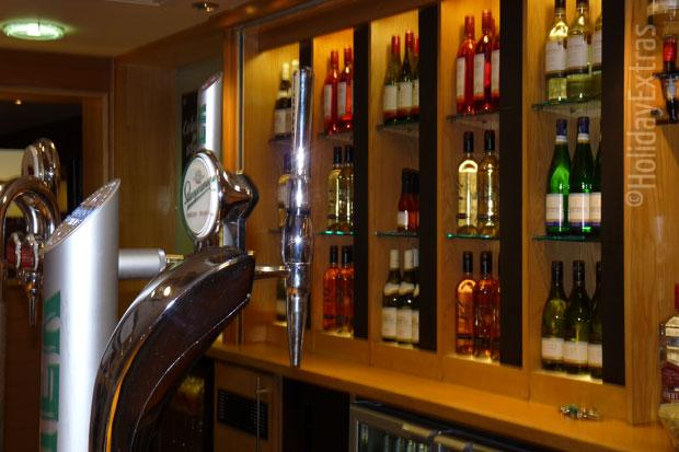 A wide selection of wine at the Premier Inn Heathrow
