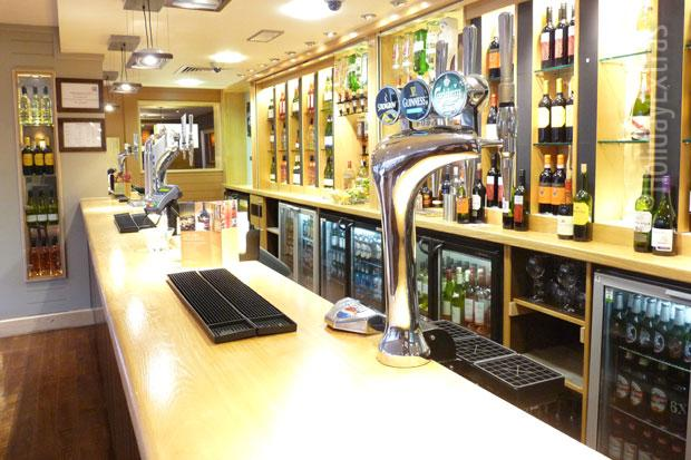 The bar at the Premier Inn Heathrow