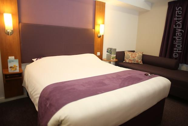 A double at the Premier Inn terminal 5