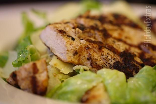 Chicken caesar salad at the Premier Inn terminal 5