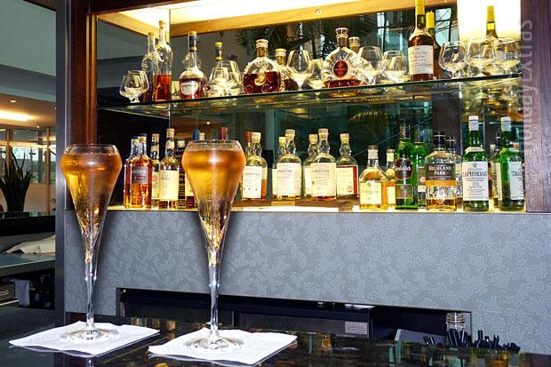 Enjoy a drink at the Library Bar at the Sofitel Heathrow