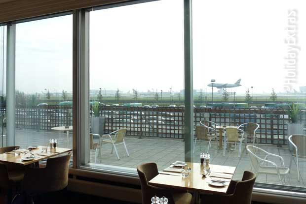 View from the Heathrow Thistle restaurant
