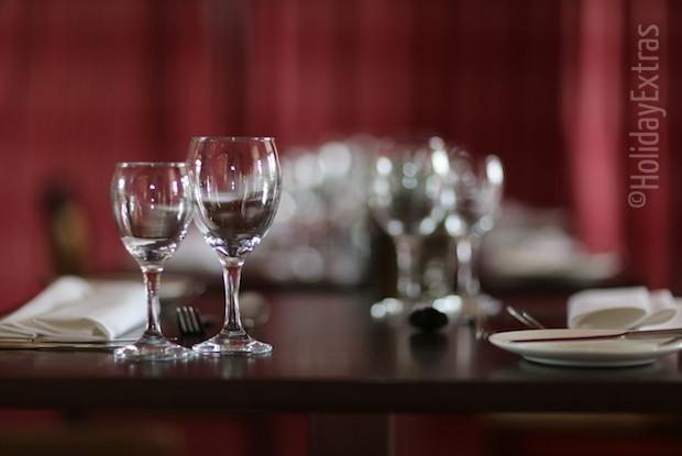 A set table at the Mercure Leeds Parkway hotel
