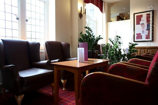 Seating in the bar at the Mercure Leeds Parkway hotel