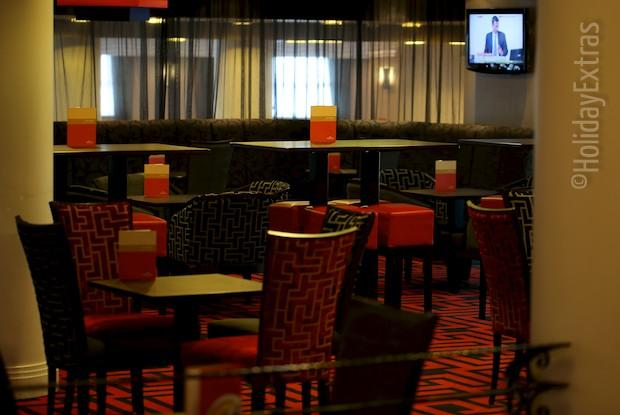 Seating in the bar at the Crowne Plaza Liverpool