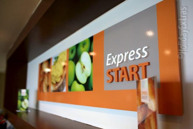 Express start at the Holiday Inn Express
