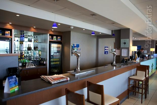 The bar at the Holiday Inn Express