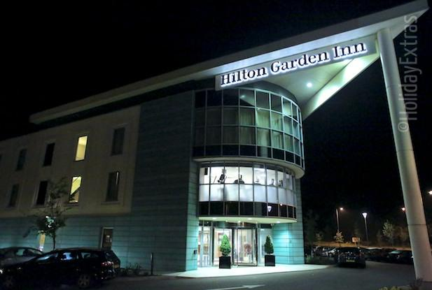 Hilton Garden Inn at night