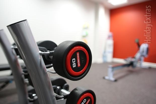 The gym at the Ramada Encore