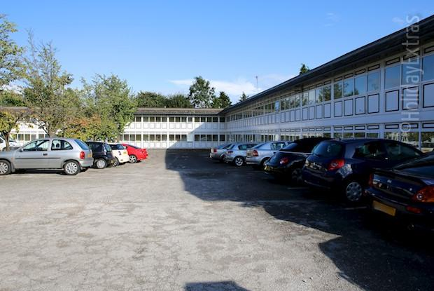 The car park at the Altrincham Lodge