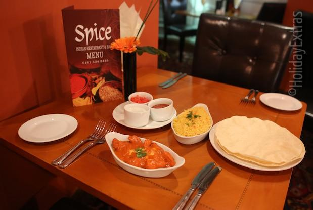 Spice restaurant at the Britannia Country House