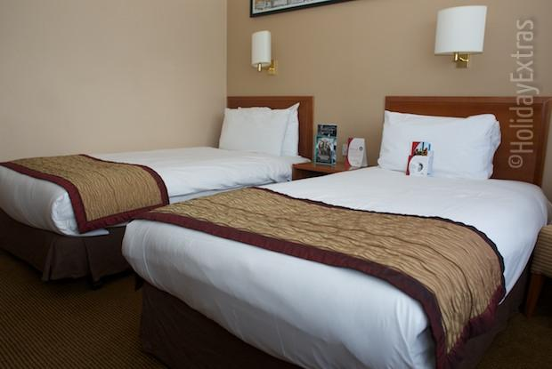 A triple room at the Crowne Plaza