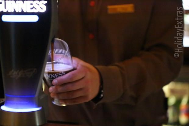 Enjoy a pint at the Crowne Plaza