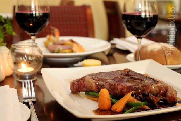 Delicious meals at the Etrop Grange Hotel