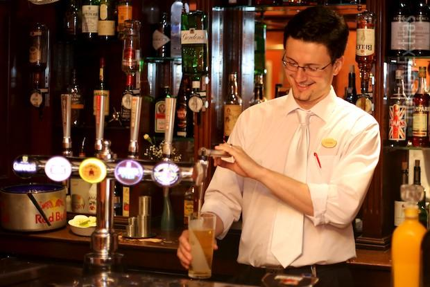 Enjoy a drink at the Etrop Grange Hotel