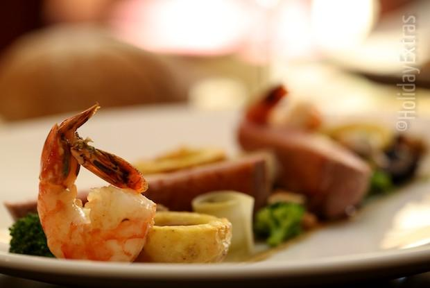 Succulent meals at the Etrop Grange Hotel