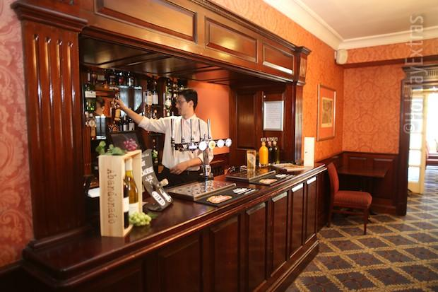 The bar at the Etrop Grange Hotel