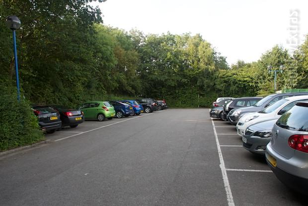 The car park at the Hilton